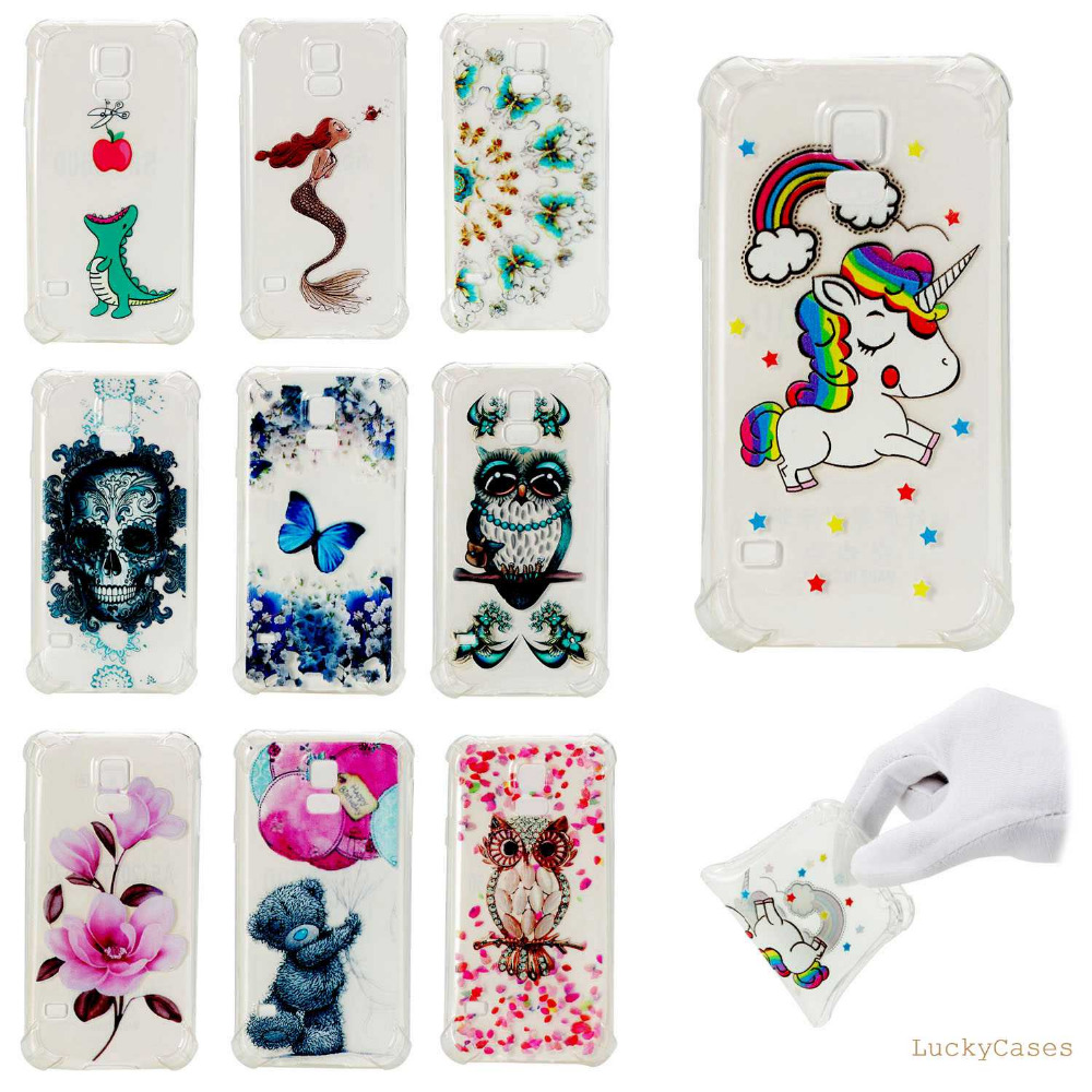 High Quality Fashion Anti fall Shockproof Mobile Phone Case for Samsung S5 cool Cartoon Printed TPU shell cover cove ...