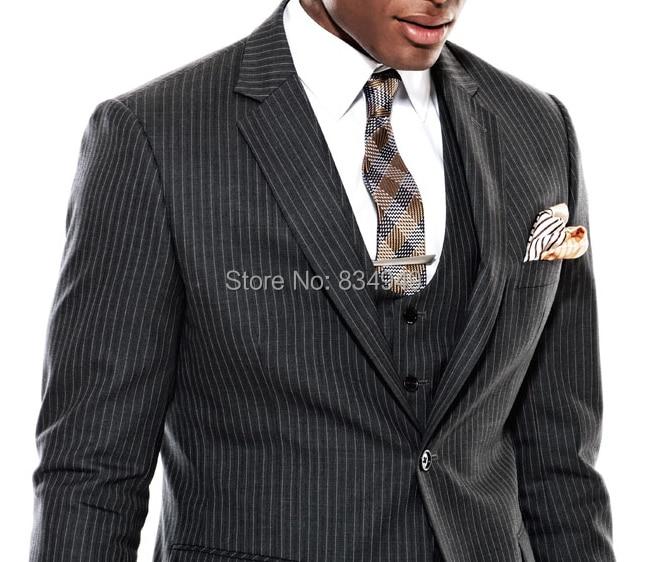 Grey Pinstripe Suit Mens | My Dress Tip