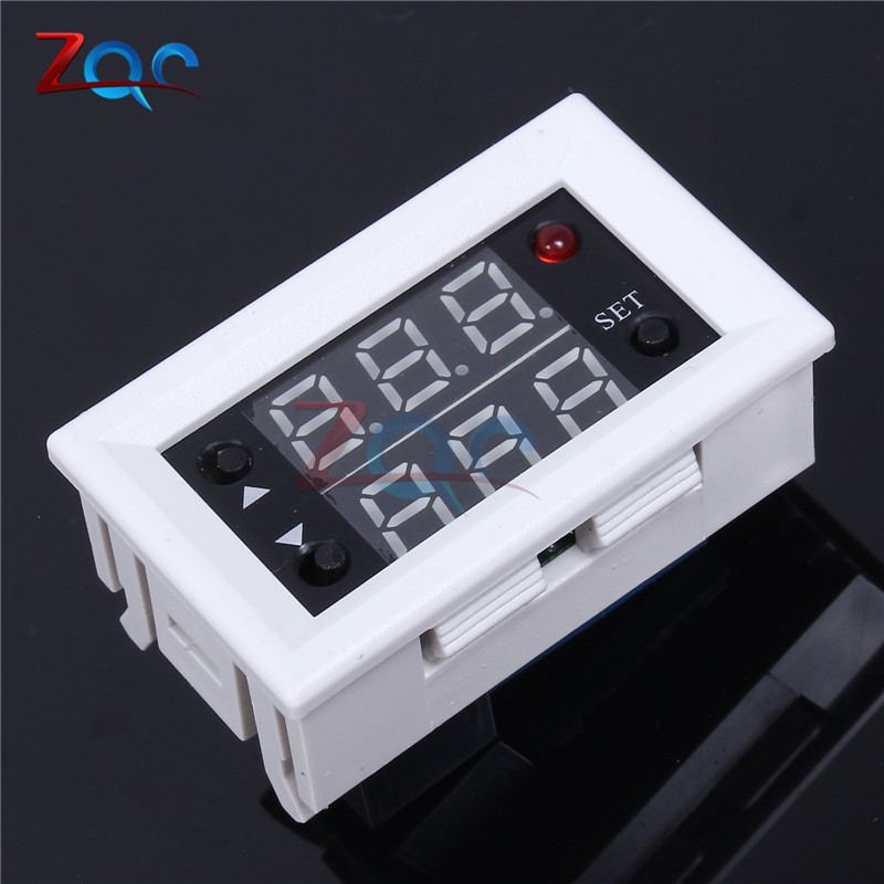 Mini 12V 20A Digital LED Dual Display Timer Relay Module Timing Delay Cycle dc 12v led display digital delay timer control switch module plc