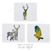 Nordic Style Abstract Wild Animal Fish Deer Head Cat Lion Prints Creative Gift PC Laptop Desk Gaming Computer Mouse Pad Mats Set