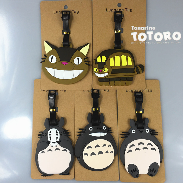 TOTORO Kitten Bus Anime Travel Accessories Luggage Tag Suitcase ID Address Portable Tags Holder Baggage Label Gifts New
