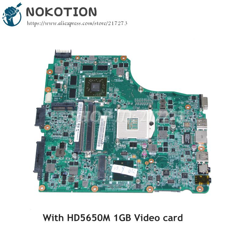 NOKOTION For <font><b>Acer</b></font> aspire 4820 <font><b>4820TG</b></font> Laptop Motherboard HM55 DDR3 HD5650M 1GB MBPVL06001 DA0ZQ1MB8D0 Main board image