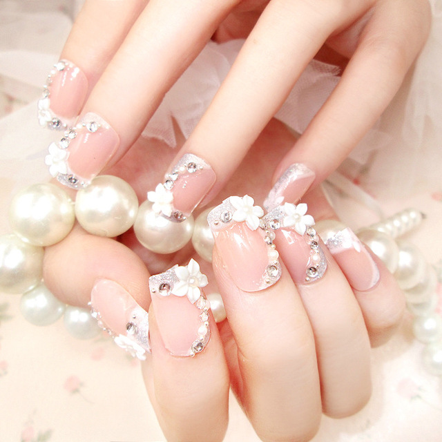 24pcs full cover false nail high