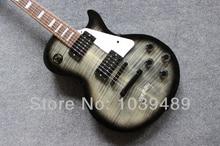Standard tigerstreifen unterschrift LP e-gitarre zu liefern ems-freies verschiffen