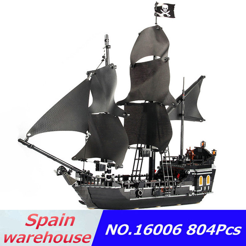 16006 16016 The Black Pearl Imperial Flagship Flying Dutchman Warship Caribbean Pirates Ship Building Blocks 10210