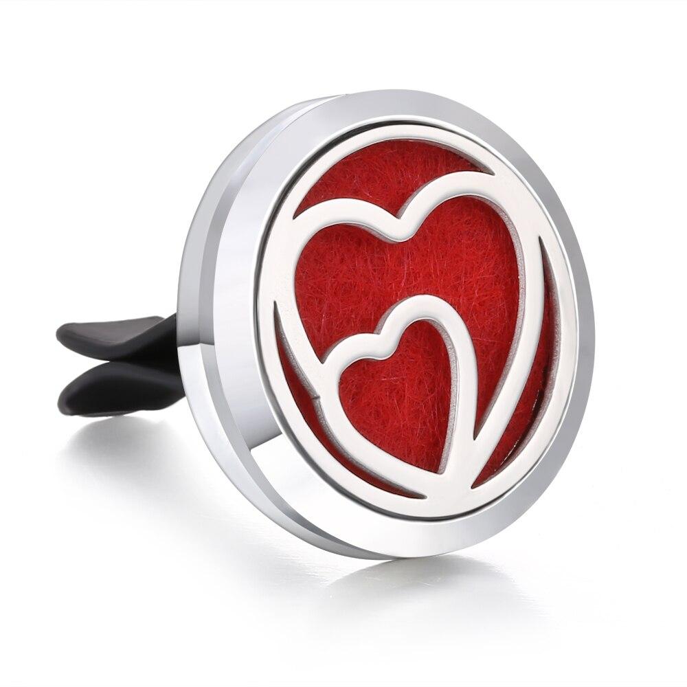 Ароматический диффузор ожерелье открытый медальон Подвеска для ароматерапии диффузор эфирного масла автомобильный освежитель воздуха автомобильный парфюмерный диффузор зажим - Окраска металла: 7