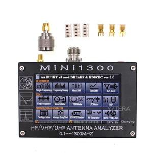 "Image 1 - MINI1300 5V/1.5A HF VHF UHF אנטנת Analyzer 0.1 1300MHZ תדר דלפק SWR מד 0.1 1999 עם 4.3 ""TFT LCD מסך מגע"