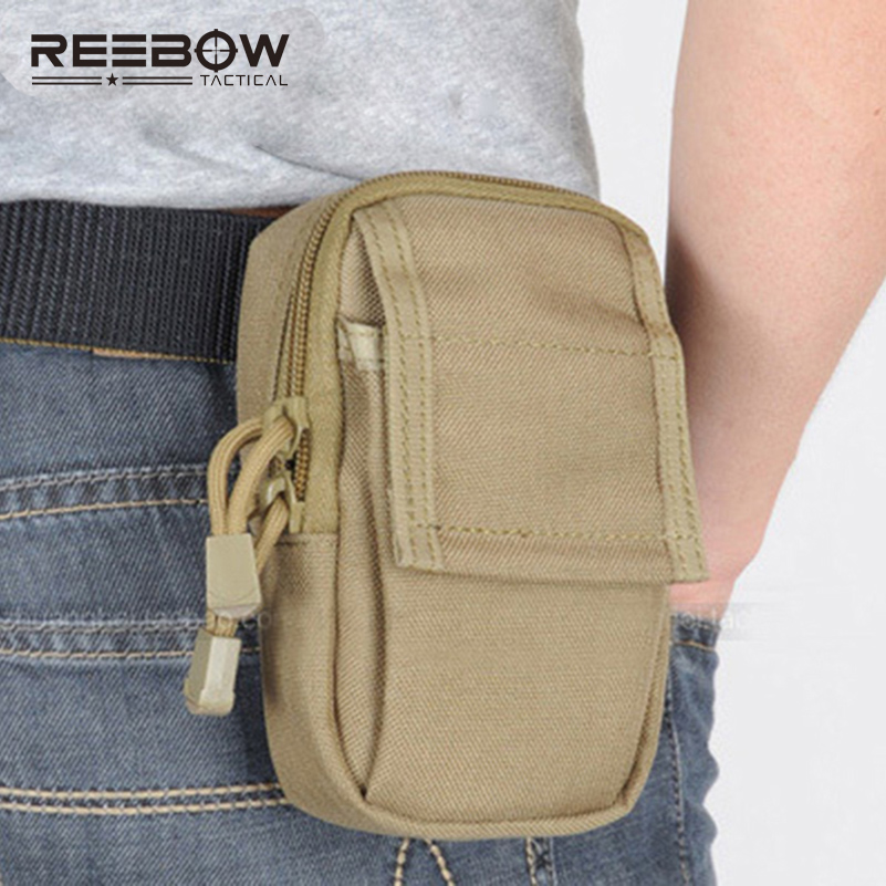REEBOW Tactical Military Mini Running EDC Waist Pack Molle 1000D nylon Bags Accessories Small Outdoor Mobile Phone Waist Bag