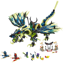 Ninja Attack of the Morro Dragon Dark Action Figure Model Building Block Brick Toy Minifigure Ninjagoed axidis