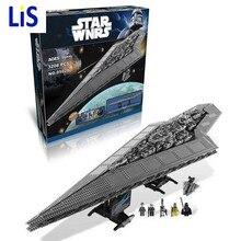 Lis New LEPIN 05028 Star Wars Execytor Super Star Destroyer Modelo Kit de Construcción de Ladrillo Bloque de Juguete de Regalo Compatible 10221