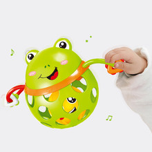 0-12 Months Baby Rattles toy Intelligence Grasping Gums Plastic Animal Music Hand Shake Toy Early Educational Gift for Newborns(China)