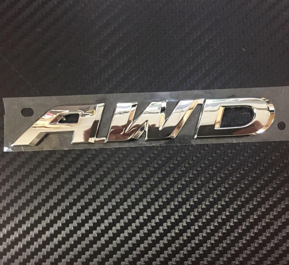 Car ABS Chrome AWD Four wheel drive Big 14.5cm for Crosstour Side Badge Emblem