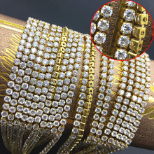 round Zircon gold claw chain tip bottom transparent bare stone diamond tight grab jewelry DIY