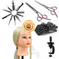"""Professional 24"""" 30% Real Blonde Hair Practice Hairdressing Training Mannequin Head with Salon Tools Kits Free Ship B20Q"""