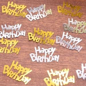 Image 4 - 1パックハッピーバースデー紙吹雪ローズゴールド手紙紙吹雪結婚式誕生日パーティーベビーシャワーバルーン装飾用品