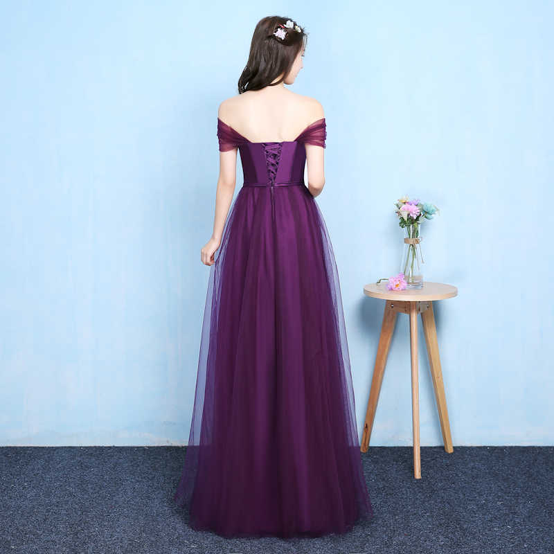 e014a1b434 Lady beauty 2018 Robe De Soiree purple Slit Long Evening Dresses women  fashinable Formal Gown Long Prom Dresses robe rouge