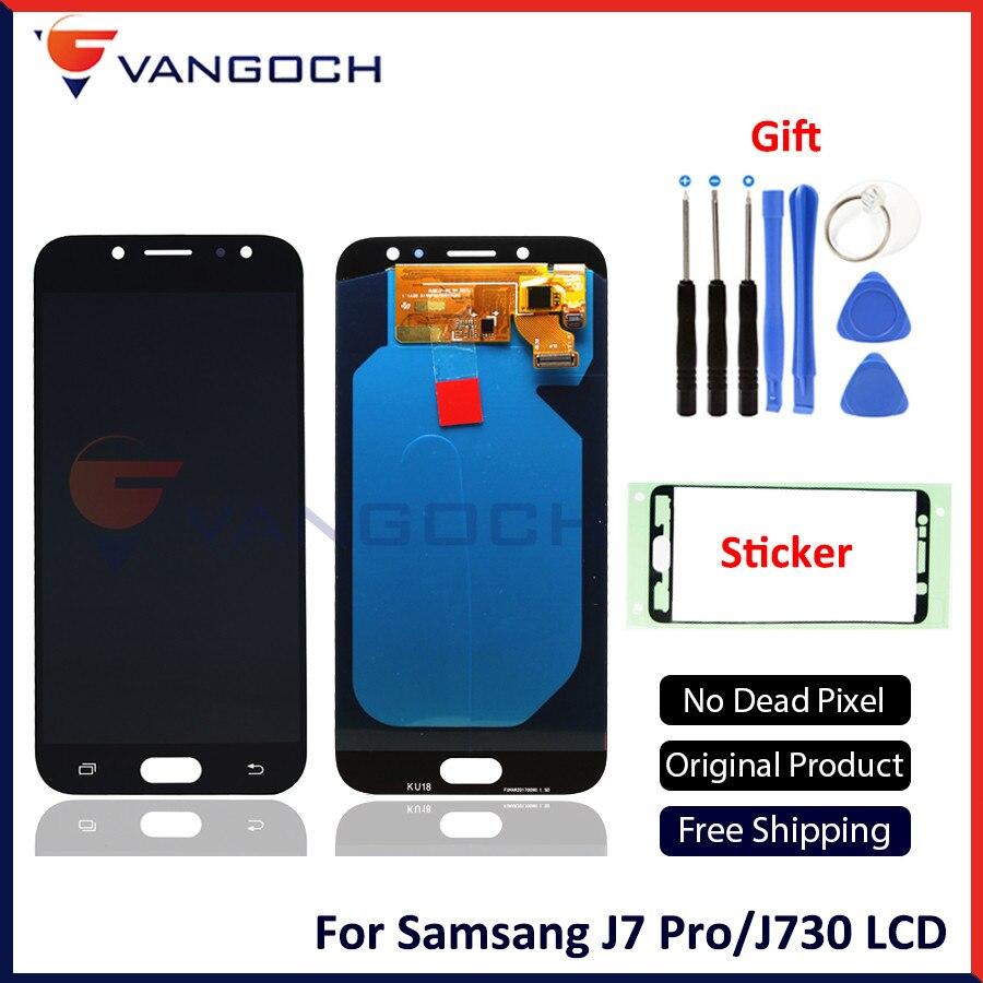 Nouvelle qualité d'origine AMOLED LCD pour Samsung Galaxy J7 Pro J730F 2017 écran LCD complet remplacement de l'assemblage numériseur