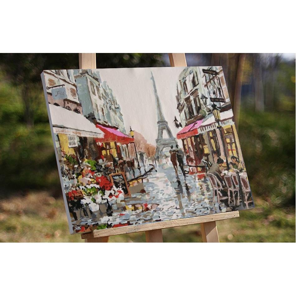 RUOPOTY Paris Street DIY Slikarstvo By Numbers Handpainted Platno - Kućni dekor - Foto 6