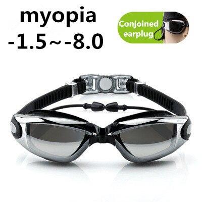 Esporte adulto profissional miopia óculos de natação masculino feminino arena diopter nadar óculos anti nevoeiro natação onda-1.5 ~-8.0