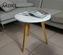 Minimalist Modern three legs round side table mobile small coffee dining leisure angle simple