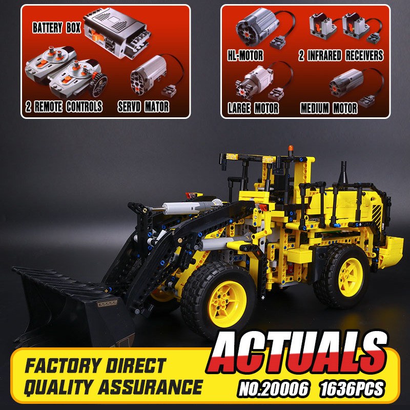 LEPIN 20006 technic series 1636pcs Volvo L350F wheel loader Model Building blocks Bricks Compatible with 42030 Childre DIY Gift lepin 20006 technic series volvo l350f wheel loader model building kit blocks bricks compatible with toy 42030 educational gifts