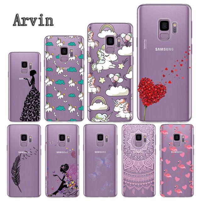 Arvin caja del teléfono de silicona para Samsung Galaxy S9 caso suave de TPU para Samsung S9 Plus caja protectora del teléfono para S9 caso