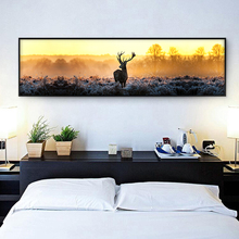 Modern Landscape Paintings Art Forest Trees Banner Canvas Painting Art Print Poster Wall Paintings Bedroom Wall Home Decoration