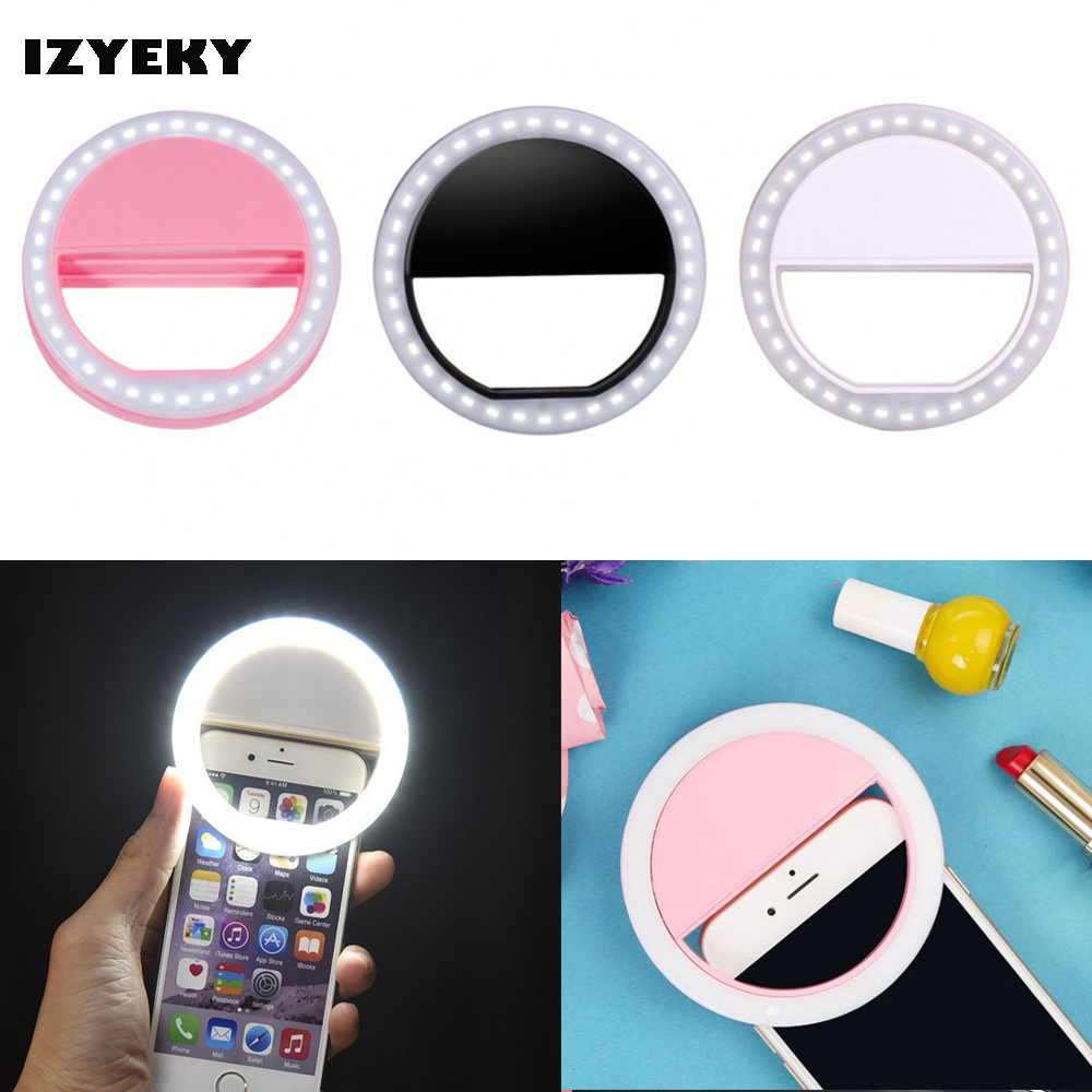 IZYEKY rechargeable coque Selfie Flash LED case led Lighting for iPhone 8 7 Samsung for xiaomi