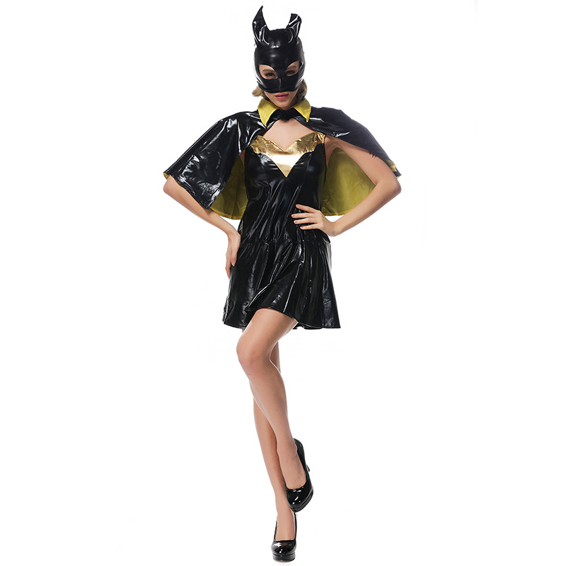Sexy Lady High Quality Faux Leather Bat Girl Costume Halloween Anime Bat man Superhero Cosplay Fancy Dress-in Movie u0026 TV costumes from Novelty u0026 Special Use ...  sc 1 st  AliExpress.com & Sexy Lady High Quality Faux Leather Bat Girl Costume Halloween Anime ...