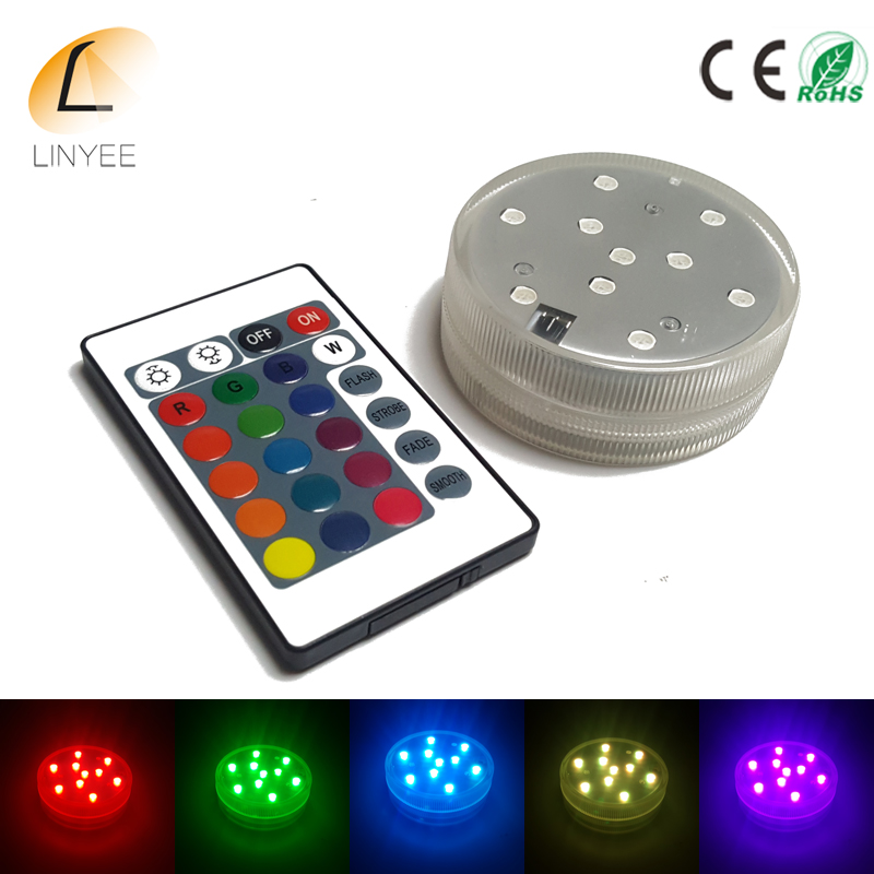 Rgb Led Underwater Light Battery Operated Waterproof Swimming Pool Light Led Submersible For