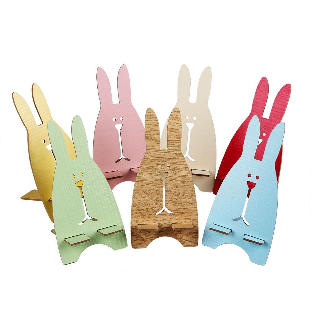Wooden Universal Phone Holder Cute Rabbit Desk Stand Charging Bracket For BQ BQS-4552 Melbourne BQS-4700 Harvard bqs-5020 5059