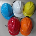 Good Quality casco de seguridad V style Glazed steel building site safety helmet work site protect helmet