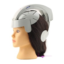 Humanized Design Electric Head Massager Brain Massage Relax Easy Acupuncture Points Fashion Gray Home Health Care Relaxation