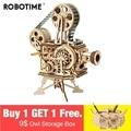 Robotime 2019 Nieuwe Collectie Hand Crank Diy 3D Flim Projector Houten Puzzel Spel Montage Speelgoed Cadeau voor Kinderen Volwassen LK601