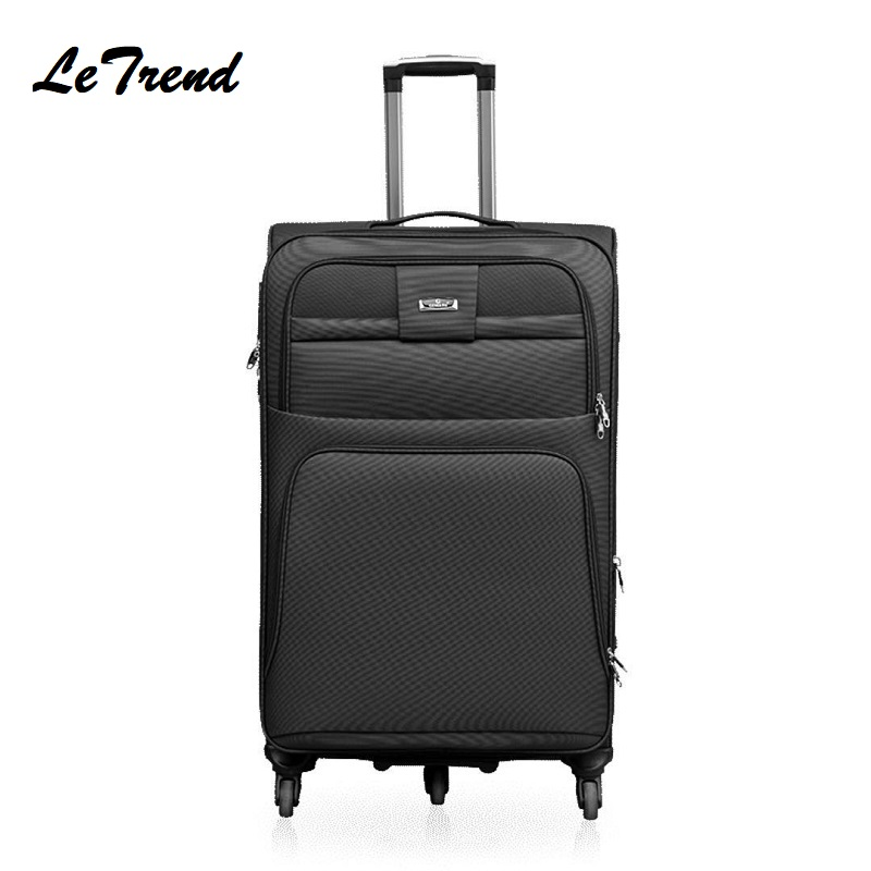 Oxford Rolling Luggage Spinner 20 Inch Boarding Suitcase Wheels 28/32 Inch High Capacity Travel Bag Business Trolley