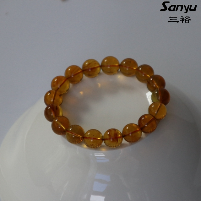 16.78g+17beads+diameter12.1mm+Natural burmese amber men bracelets certificated+Goldbrown color+burmite+handmade+unique gift M18