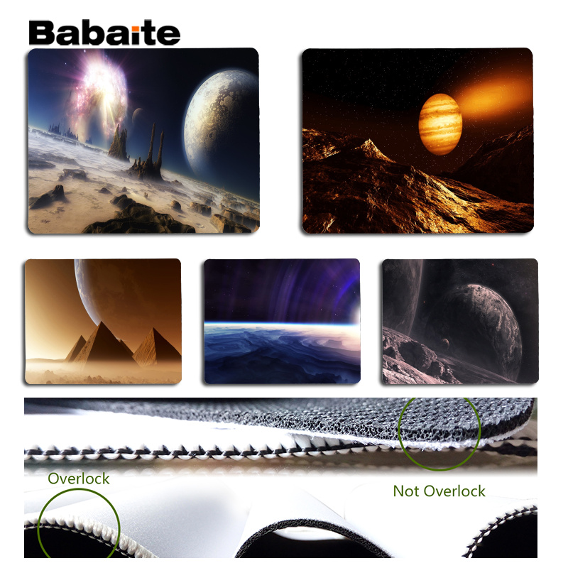 Babaite New Printed Planets surface Laptop Computer Mousepad Size for 180x220x2mm and 250x290x2mm Small Mousepad