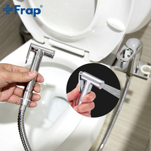 FARP Bidet faucets solid brass chrome handheld bidet toilet portable shower set with hot and cold water mixer