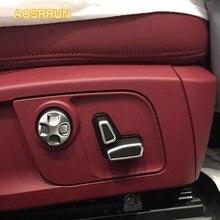 ABS гальванических регулировки сиденья и Пуговицы декоративные крышка автомобильные аксессуары для Maserati Quattroporte LEVANTE Ghibli 6 шт. 1 компл.
