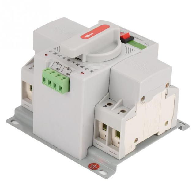 220V 63A 2P Mini Dual Power Automatic Transfer Switch Circuit ...