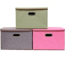 2 шт. Оксфорд ткань большой размер 45 x30x30cm складная коробка для хранения ящик для хранения одежды коробка Нижнее белье шкаф Органайзер для дома