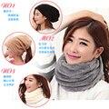 Женщин ватки плюшевые глушитель шарф двусторонний утолщение карман шляпа глушитель шарф тепловой шарф