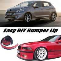 Bumper Lip Deflector Lips For Peugeot 208 307 306 308 301 Front Spoiler Skirt For Car View Tune / Body Kit / Strip