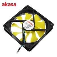 Akasa 12cm CPU Cooling Fan Ultra Quiet S FLOW Cooler Fan Blade Design High Performance 4Pin