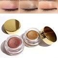 Crema de Sombra de Ojos Maquillaje de Sombra de Ojos Cosméticos de Maquillaje de Sombra de Ojos Con Caja de Metal de Cobre/Oro Rosa Regalo de Cumpleaños M03053