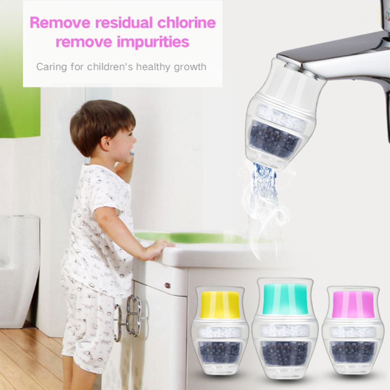 10 Pieces/lot Kitchen Water Purifier Activated Carbon Water Filter Faucet Tap Household Bathroom Water Purifier Mouth WF005 household tap water filter faucet water purifier rotatable plastic shell magnetic activated carbon filter screen kitchen