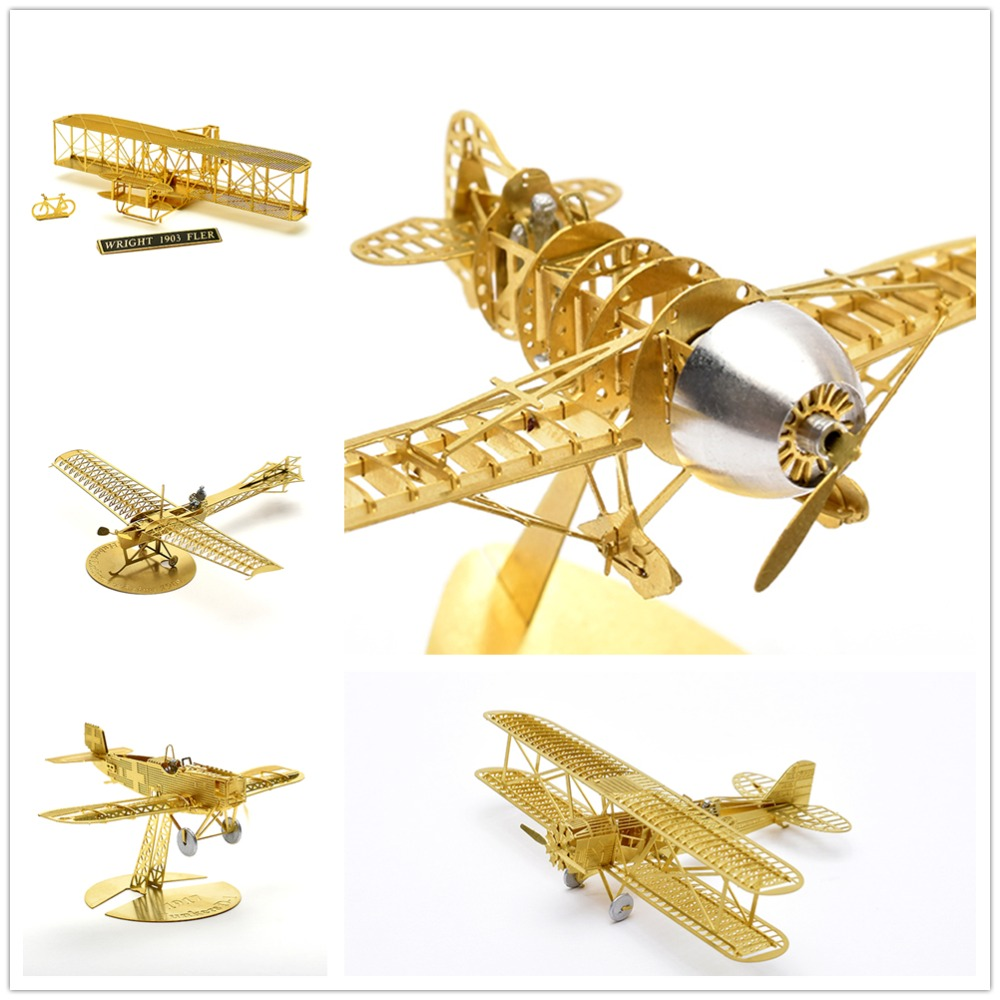 Collecti1 / 160 Etrich Taube दूसरा विश्व युद्ध, प्राचीन कबूतर पुराने स्कूल 3 डी इकट्ठे धातु मॉडल पहेली