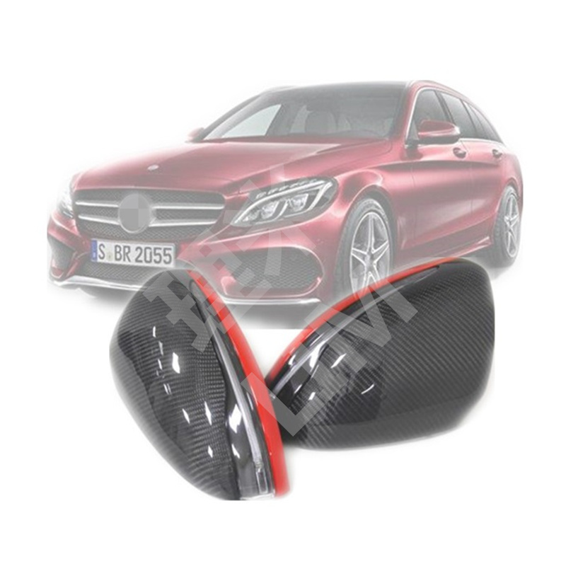 Pour Mercedes W205 W222 W213 X205 Benz C S GLC E classe En Fiber De Carbone Rétroviseur Rétroviseur Couverture Remplacement De Voiture Accessoires
