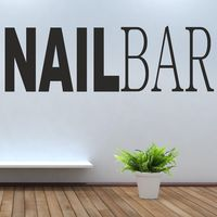 Nail Bar Vinyl Wall Decal Sticker Hair Beauty Salon Polish Varnish Gelish Mural Art Wall Sticker