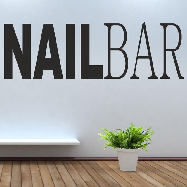 Nail Bar Vinyl Wall Decal Sticker Hair Beauty Salon Polish Varnish ...